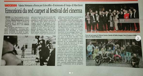 """Red carpet Festa del Cinema di Roma 2019 per il docufilm """" Il Terremoto di Vanja"""""""